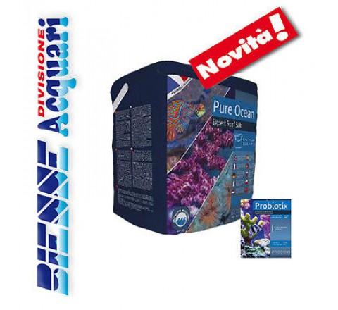 Prodibio Pure Ocean Sale 12 kg  per Acquari marini di barriera 7 fiale Probiotix