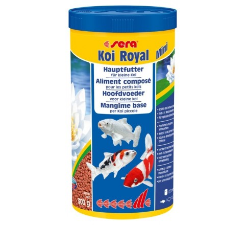 Sera Koi Royal Mini da 1000 ml Mangime per sviluppo ottimale carpe fino a 12 cm