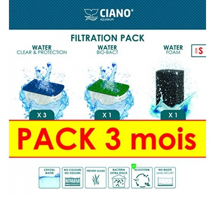 CIANO WATER CLEAR S BIO BACT S FOAM S FILTRATION PACK KIT CONVENIENZA