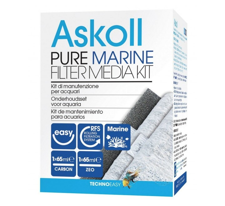ASKOLL PURE FILTER MEDIA KIT M L XL MARINE FILTRO ACQUARIO PURE MARINO