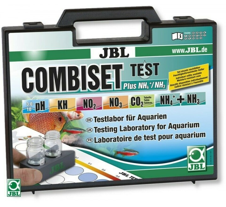 JBL COMBI SET PLUS NH4 VALIGETTA TEST ACQUARIO CON AMMONIO KH PH CO2 NO2 NO3