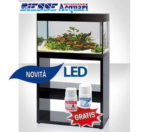 ACQUARIO LED ASKOLL PURE L NERO COMPLETO ACCESSORIATO  CON SUPPORTO