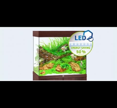 NUOVO ACQUARIO JUWEL LIDO 200 COMPLETO ACCESSORIATO 2 X LAMPADE LED MARRONE