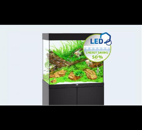 NUOVO ACQUARIO JUWEL LIDO 200 COMPLETO ACCESSORIATO 2 X LAMPADE LED NERO