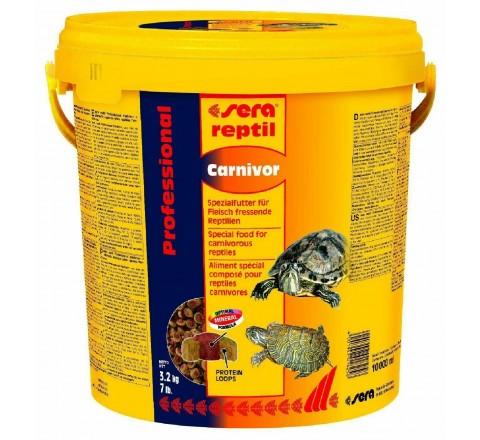 Sera reptil Carnivor 10 litri - Mangime per Rettili Carnivori 3.2 kg tartarughe